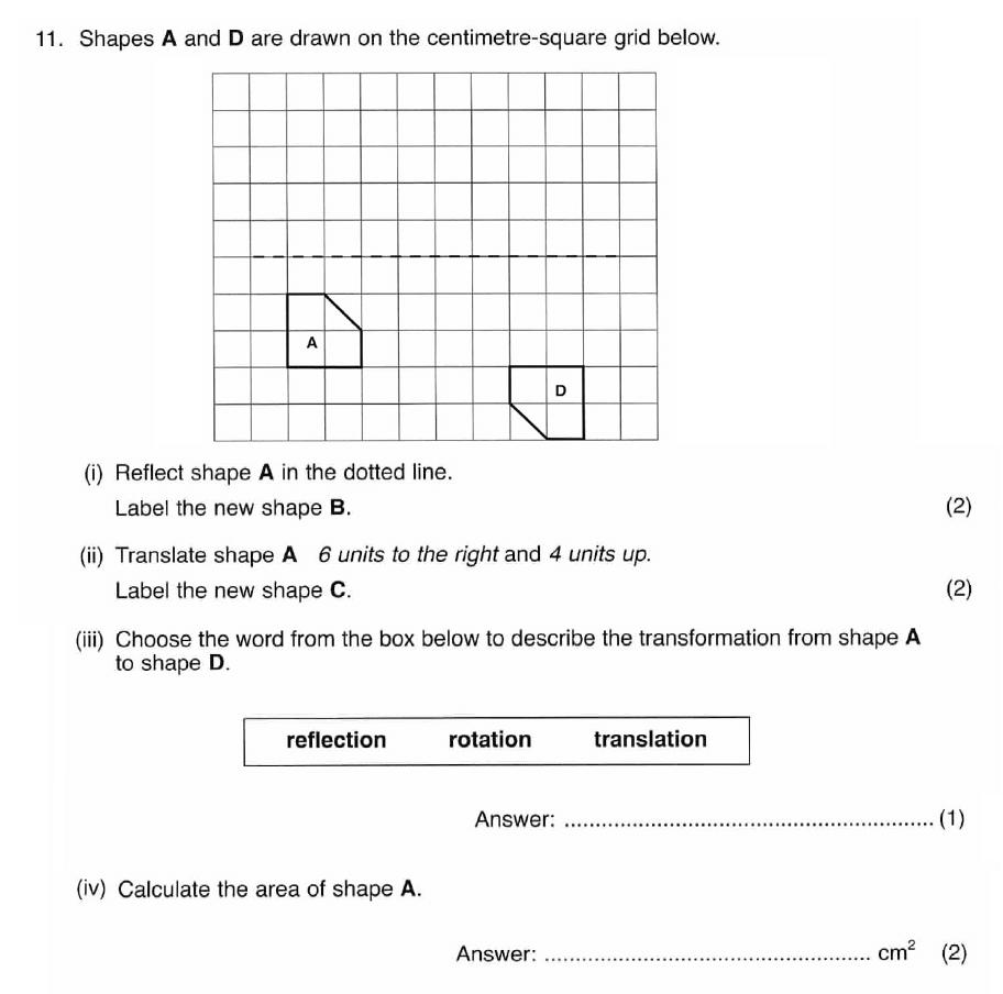 ISEB 11 Plus Maths 2009 Practice Paper Question 15