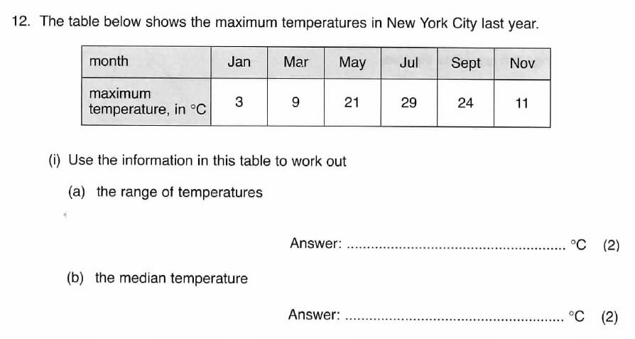 ISEB 11 Plus Maths 2009 Practice Paper Question 16