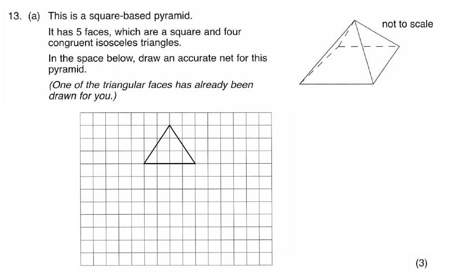 ISEB 11 Plus Maths 2009 Practice Paper Question 18