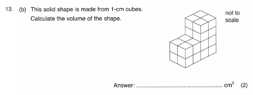 ISEB 11 Plus Maths 2009 Practice Paper Question 19