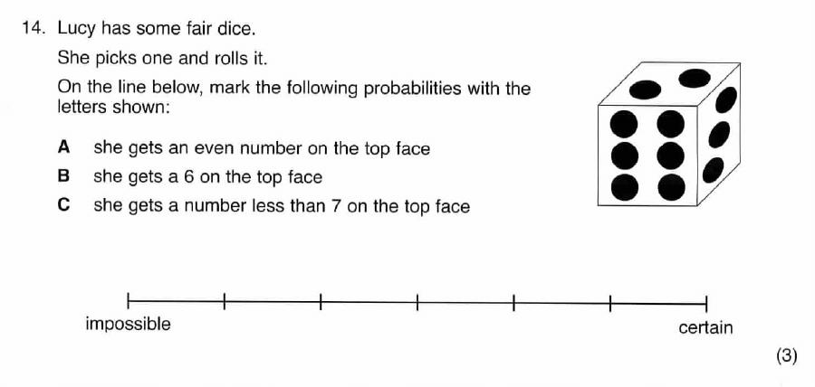 ISEB 11 Plus Maths 2009 Practice Paper Question 20