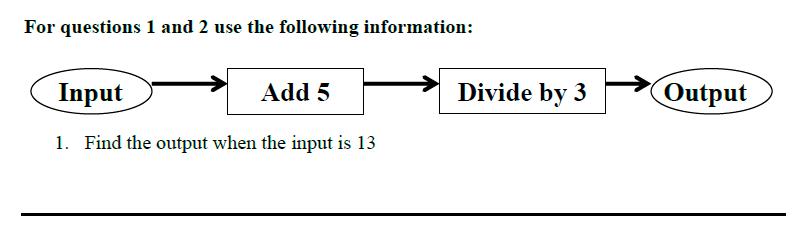 Queens' School - Maths Familiarisation Paper Question 01