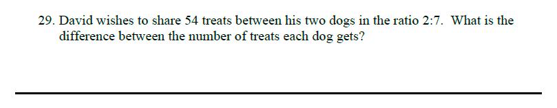 Queens' School - Maths Familiarisation Paper Question 29