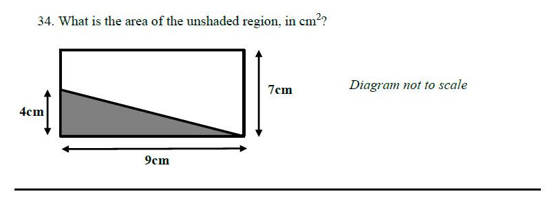 Queens' School - Maths Familiarisation Paper Question 34