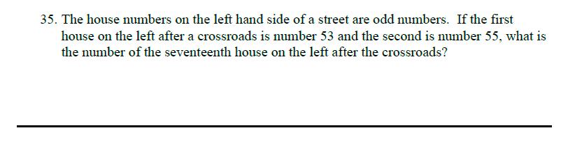 Queens' School - Maths Familiarisation Paper Question 35