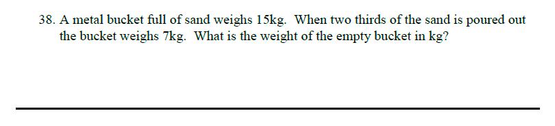Queens' School - Maths Familiarisation Paper Question 38