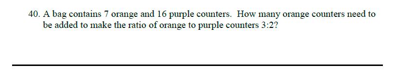 Queens' School - Maths Familiarisation Paper Question 40