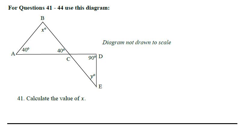 Queens' School - Maths Familiarisation Paper Question 41