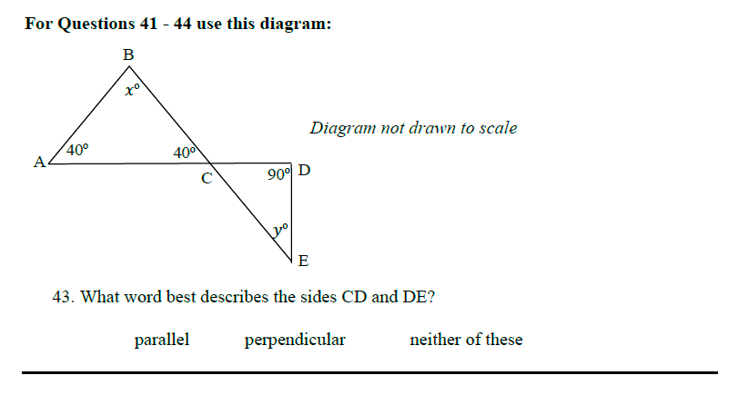 Queens' School - Maths Familiarisation Paper Question 43