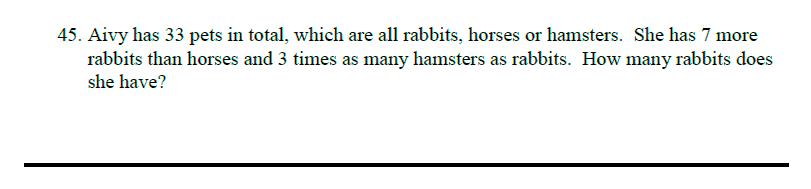 Queens' School - Maths Familiarisation Paper Question 45