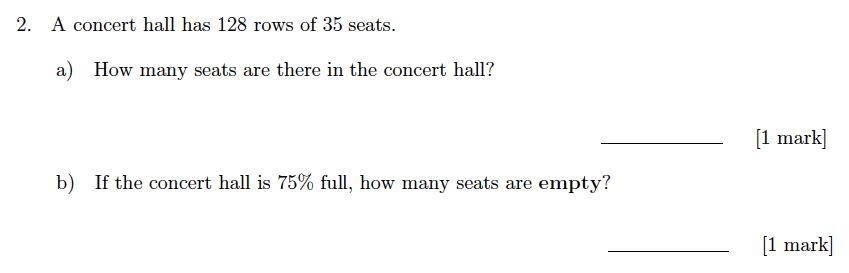 Sevenoaks School Year 7 Sample Paper 2018 Question 02