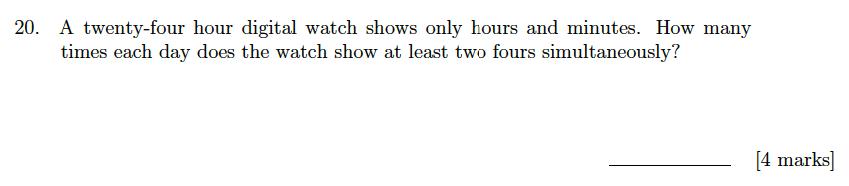 Sevenoaks School Year 7 Sample Paper 2018 Question 21