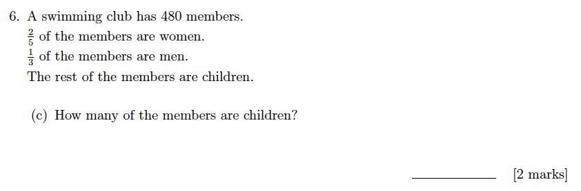 Sevenoaks School Year 7 Sample Paper 2019 Question 08