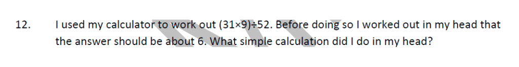 Whitgift School Maths Entrance Exam Sample Questions Question 12