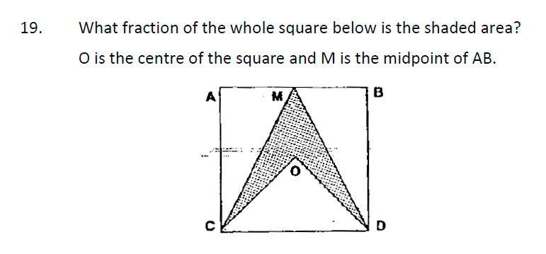 Whitgift School Maths Entrance Exam Sample Questions Question 19