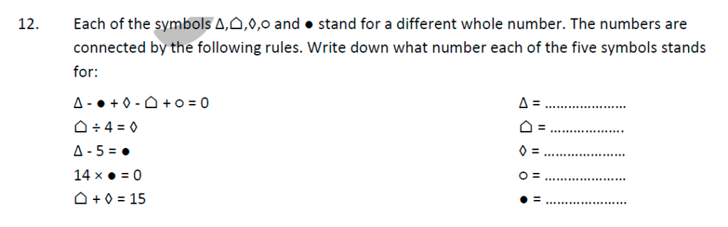 Whitgift School Maths Entrance Exam Sample Questions Question 33