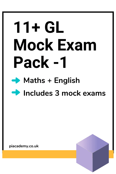 11 Plus GL Style Mock Exam Pack 1