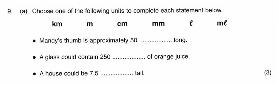 ISEB 11 Plus Maths 2008-09 Practice Paper Question 13
