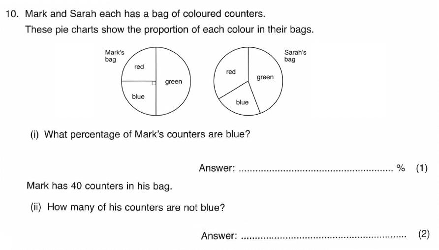 ISEB 11 Plus Maths 2008-09 Practice Paper Question 15