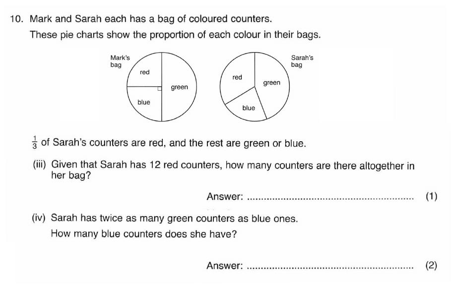 ISEB 11 Plus Maths 2008-09 Practice Paper Question 16