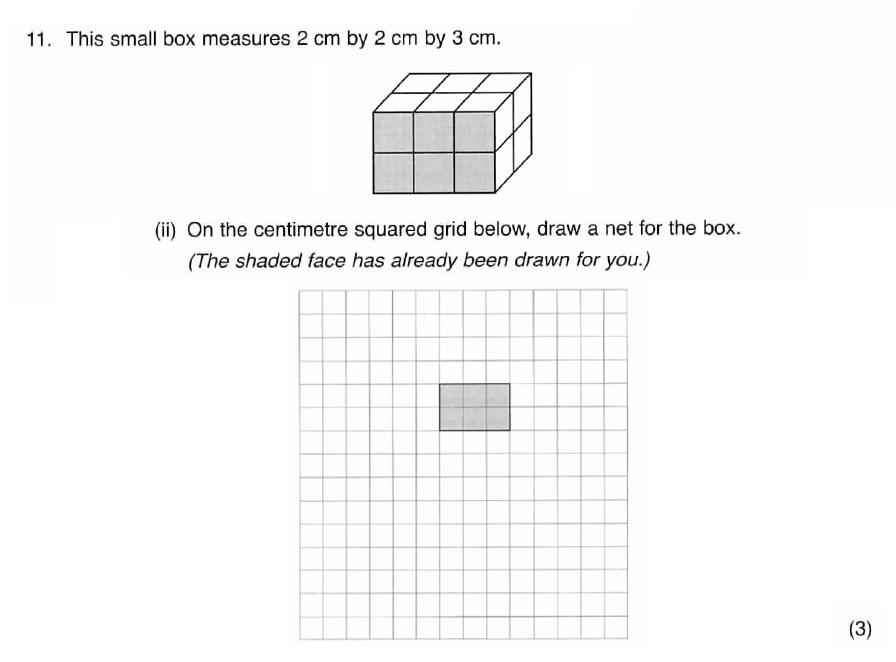 ISEB 11 Plus Maths 2008-09 Practice Paper Question 19