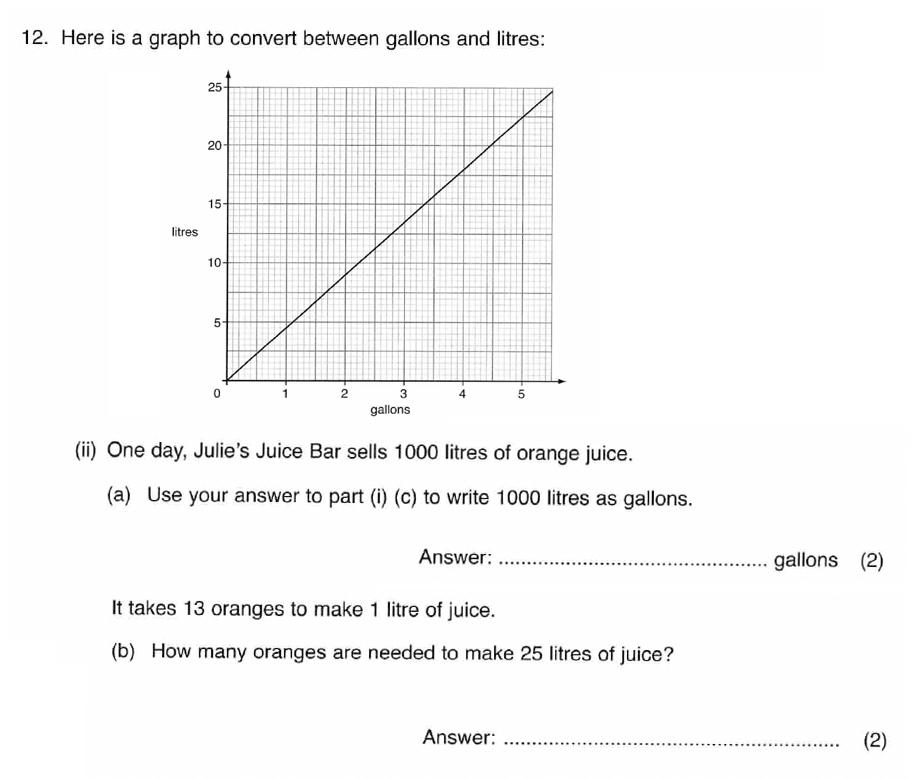 ISEB 11 Plus Maths 2008-09 Practice Paper Question 21