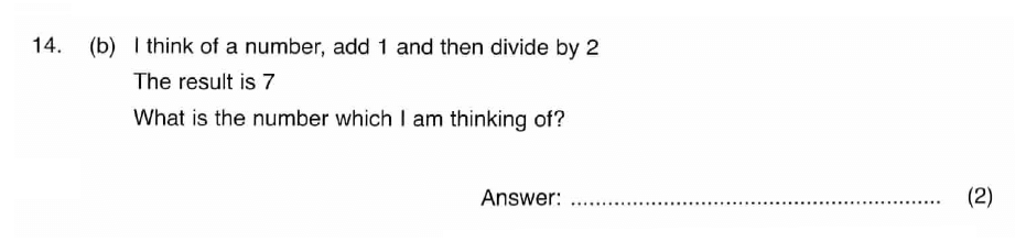 ISEB 11 Plus Maths 2008-09 Practice Paper Question 24