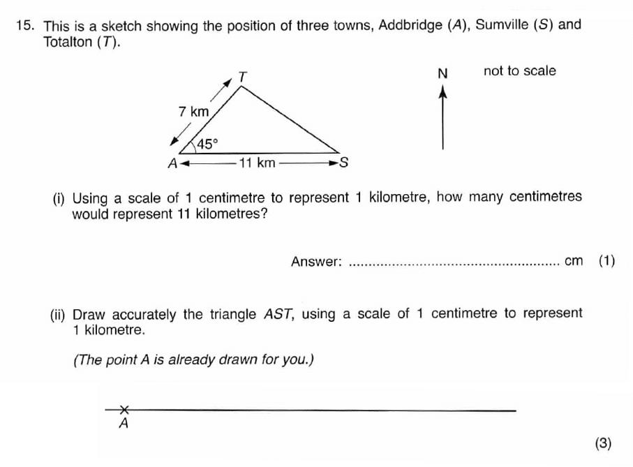 ISEB 11 Plus Maths 2008-09 Practice Paper Question 25