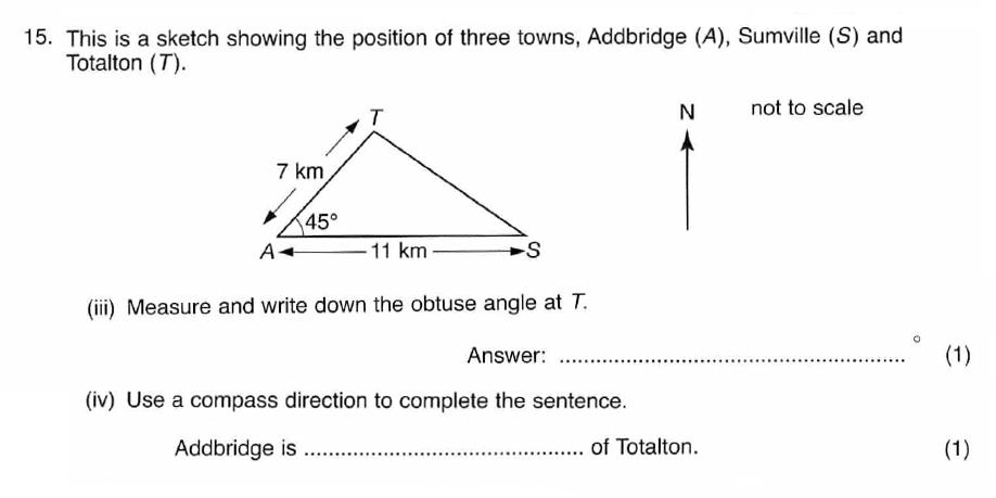ISEB 11 Plus Maths 2008-09 Practice Paper Question 26