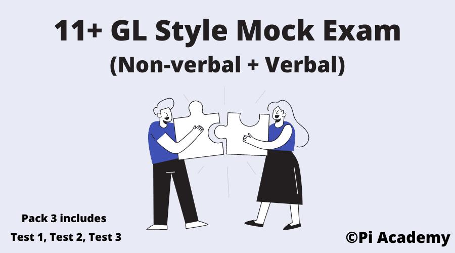 11 Plus GL Assessment Mock Exam Non verbal and Verbal - Pack 3