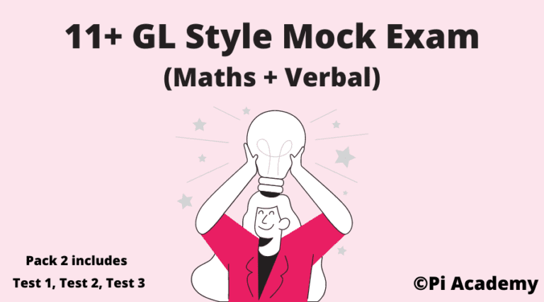 11 Plus GL Assessment Mock Pack 2-Maths and Verbal Product