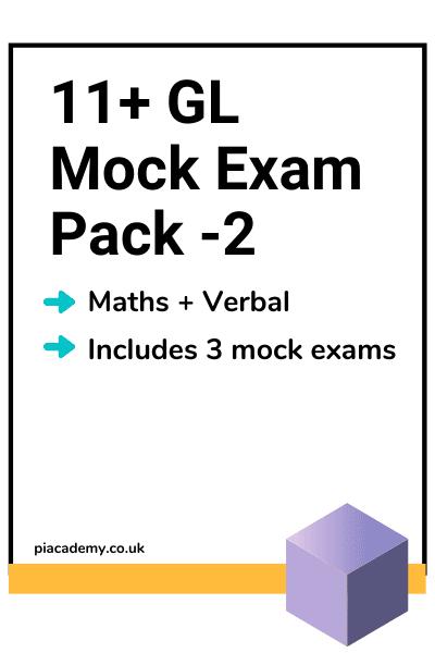 11 Plus GL Style Mock Exam Pack 2