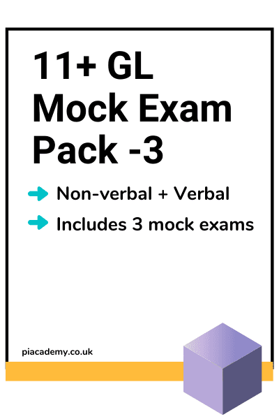 11 Plus GL Style Mock Exam Pack 3