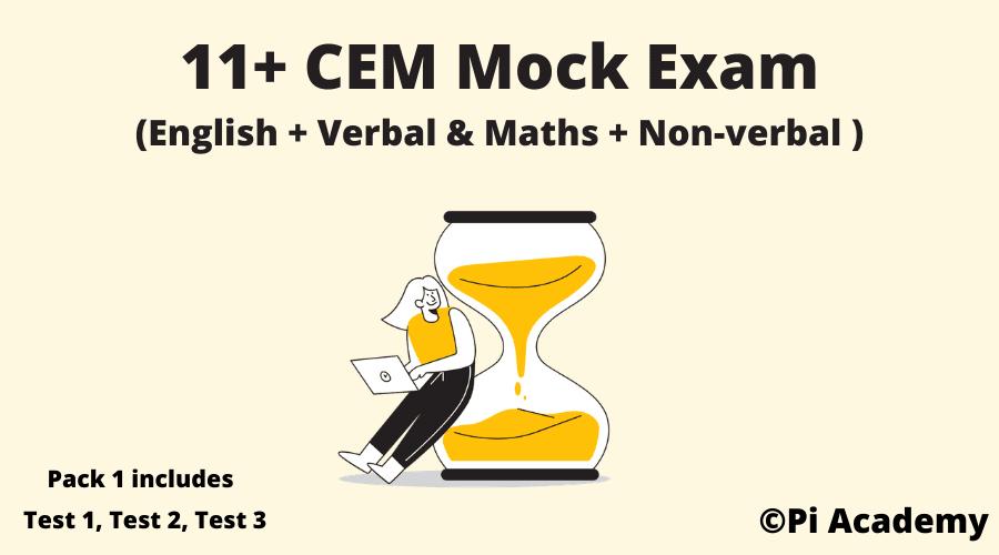 11 Plus CEM Mock Exam Pack Product