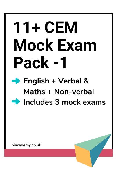 11 Plus CEM Style Mock Exam Pack 1