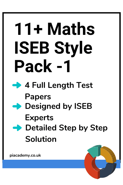 11 Plus ISEB Maths Papers Pack 1 with answers