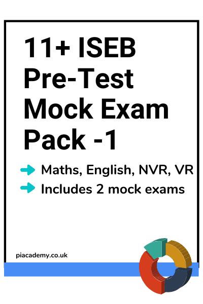 11 Plus ISEB Pre-Test Mock Exam Pack 1