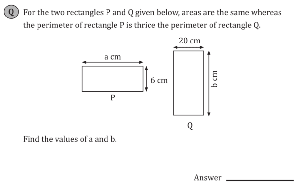 11+ Maths Challenging- Algebra - Practise Question 085 - A