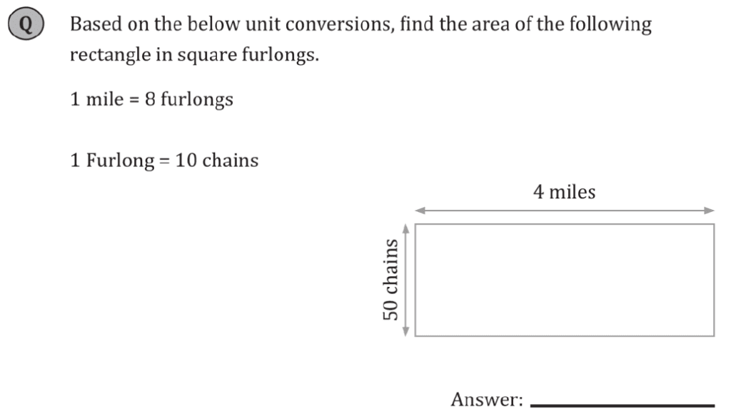 11+ Maths Challenging - Measurements - Practise Question 078 - B