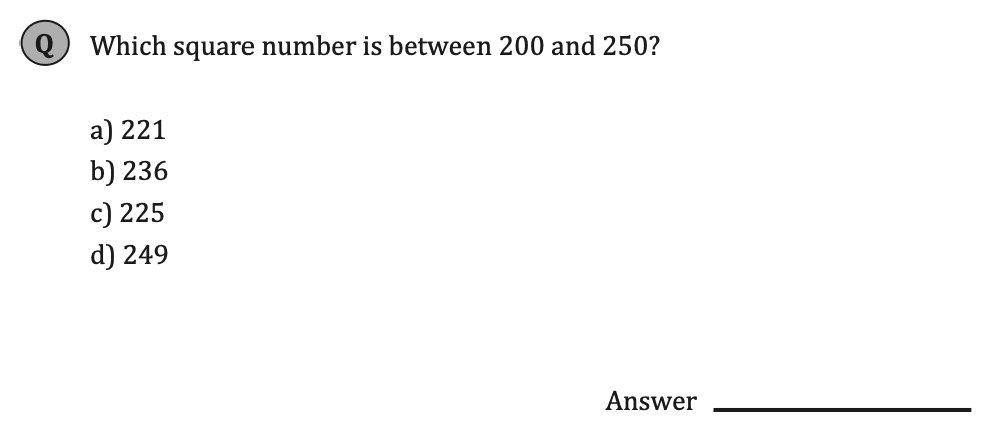 11+ Maths Challenging- Numbers - Practise Question 067 - A