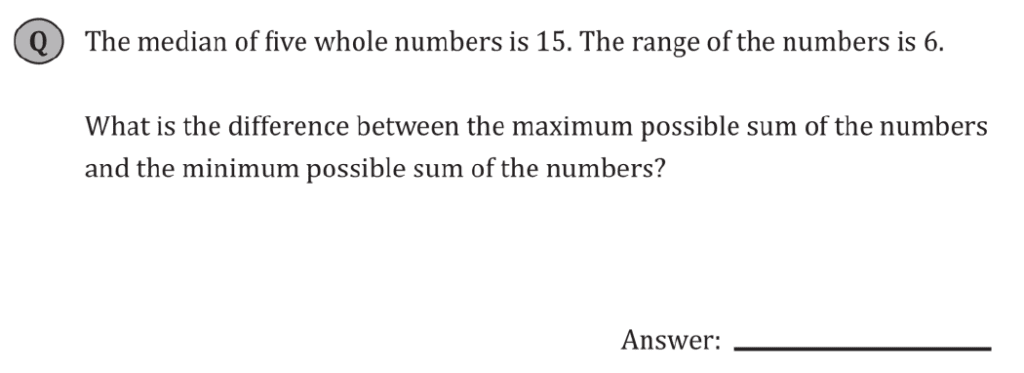 11+ Maths Challenging - Statistics - Practise Question 038 - A