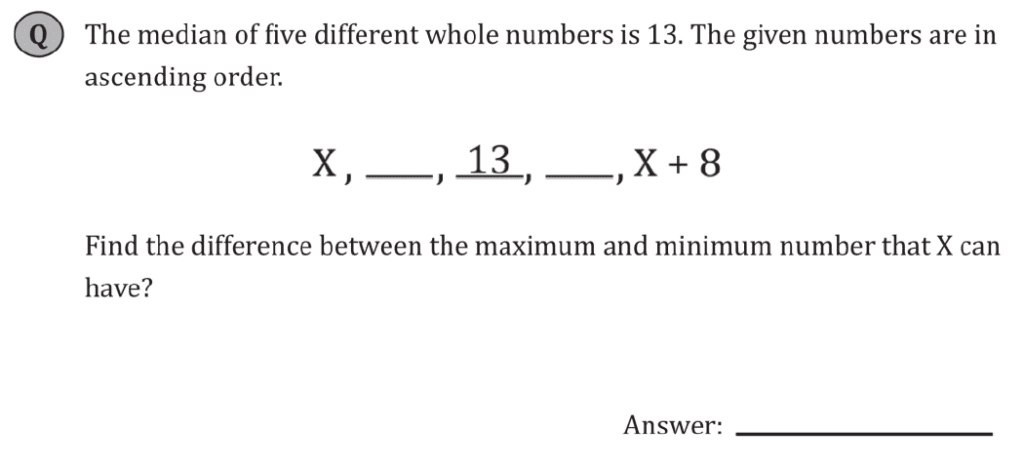 11+ Maths Challenging - Statistics - Practise Question 038 - B