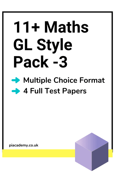 11 Plus GL Maths Papers Pack 3 with answers