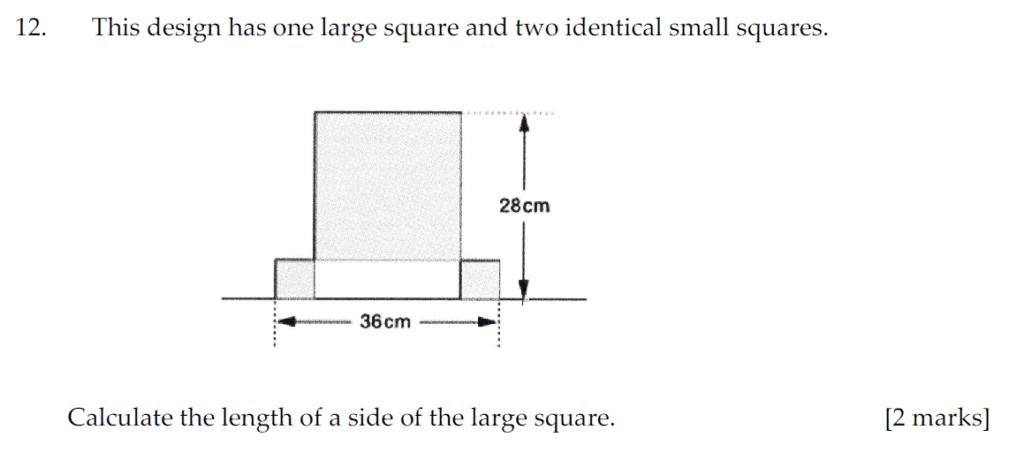 Sevenoaks School Year 7 Sample Paper 2011 Question 12