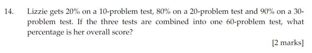 Sevenoaks School Year 7 Sample Paper 2011 Question 14