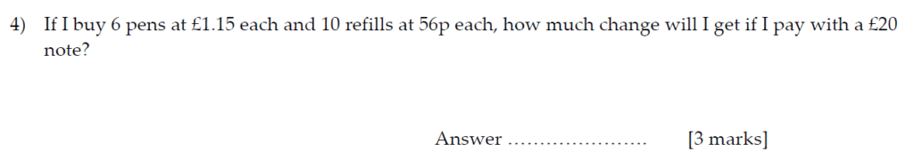 Sevenoaks School Year 7 Sample Paper 2013 Question 05