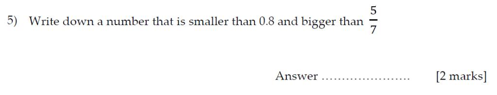 Sevenoaks School Year 7 Sample Paper 2013 Question 06