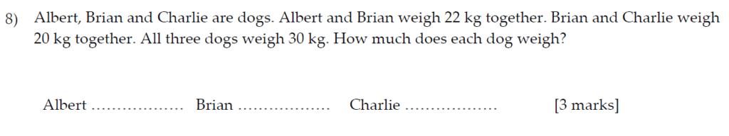 Sevenoaks School Year 7 Sample Paper 2013 Question 10