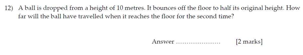 Sevenoaks School Year 7 Sample Paper 2013 Question 15