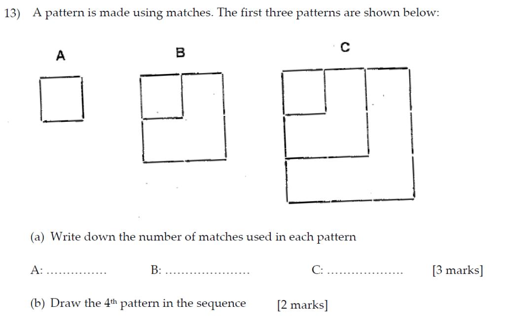 Sevenoaks School Year 7 Sample Paper 2013 Question 16
